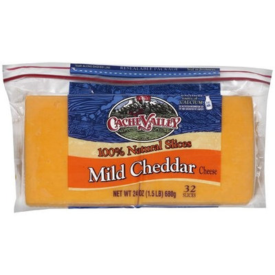 Cache Valley Mild Cheddar Cheese Slices, 24 oz
