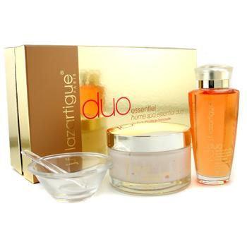 J.F. Lazartigue Home Spa Essential Duo with Bancoulier Oil: Essential Hair Cream 200ml + Serum 100ml 3pcs