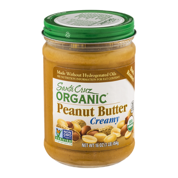 Santa Cruz Organic Creamy Peanut Butter Dark Roasted