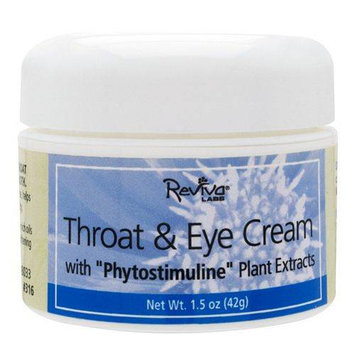 Reviva Labs Throat and Eye Cream - For Dry Skin