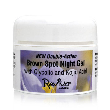 Reviva Labs Brown Spot Night Gel with Glycolic and Kojic Acid