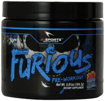 AI Sports Nutrition Furious Booming Blue Raspberry - 30 Servings
