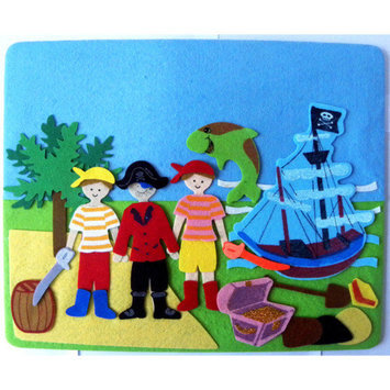 Sassafras Fun Time Felt Yo Ho Ho Pirate Play