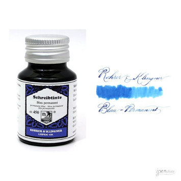 Rohrer & Klingner 50 ml Bottle Fountain Pen Ink, Blau Permanent (Permanent Blue)