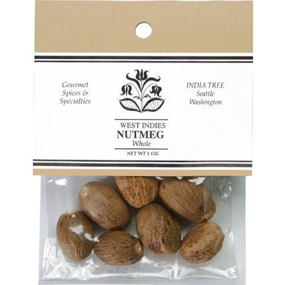 India Tree Nutmeg, Whole, 1 oz (Pack of 4)