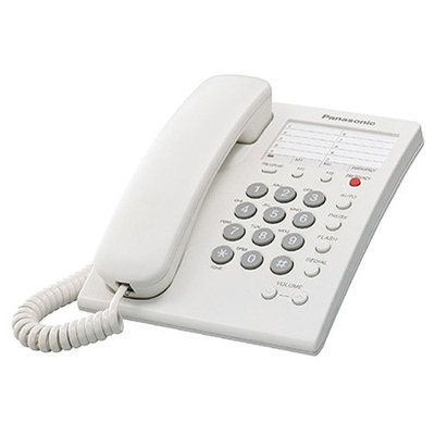 Panasonic Consumer KX-TS550W Feature Phone W/ Emergency