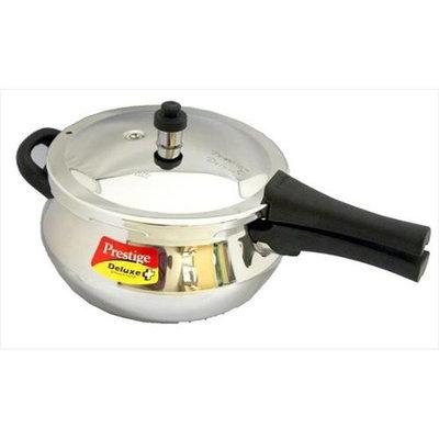 Prestige Deluxe Stainless Steel Junior Handi Pressure Cooker, 4.4-Liter