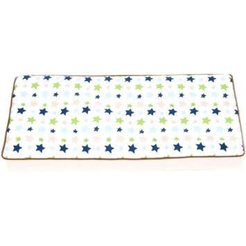 Bacati Camo Air Changing Pad Cover (White)