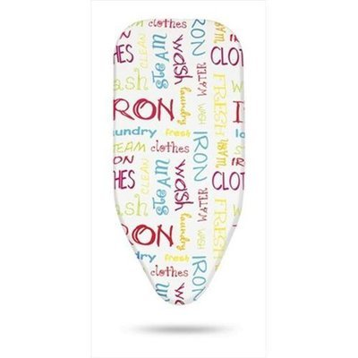 Bonita BC06-80BT Ironing Board Cover With Felt Small In Bright Text Print