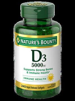 NATURE'S BOUNTY® Vitamin D3 5000 IU Rapid Release Softgels