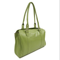 Piel Leather 15.5 in. Ladies Buckle Laptop Tote w Padded Slot in Chocolate