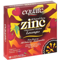 Equate All Natural Zinc Cherry Lozenges - 18 Ct