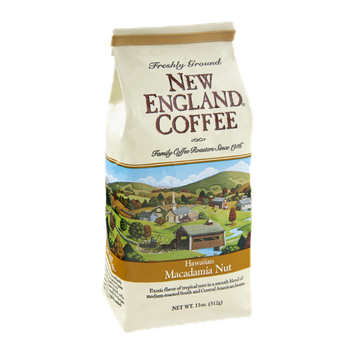 New England Coffee Hawaiian Macadamia Nut Freshly Ground Coffee