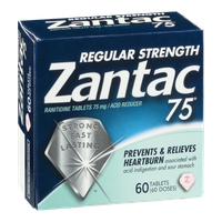 Zantac 75 Regular Strength Ranitidine Tablets - 60 CT