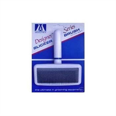 Millers Forge Stainless Steel Pins Designer Series Soft Slicker Pet Grooming Brush, Small