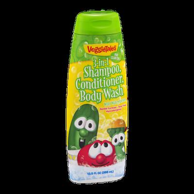 VeggieTales 3-in-1 Shampoo, Conditioner, Body Wash Wild Watermelon