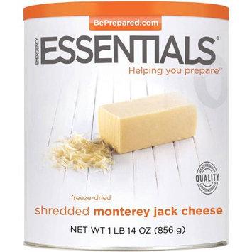 Emergency Essentials Freeze-Dried Shredded Monterey Jack Cheese, 30 oz