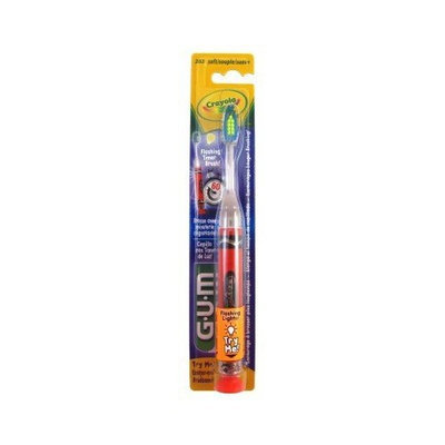 Butler Toothbrush Crayola Flashing Lights Soft (Pack of 6)