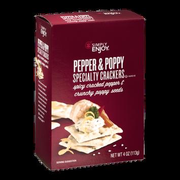 Simply Enjoy Specialty Crackers Pepper & Poppy