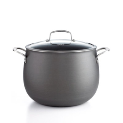 Belgique Hard Anodized 12 Qt. Covered Stockpot
