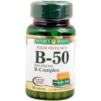 Nature's Bounty High Potency Balanced B-50, 50 Count (Pack of 2)