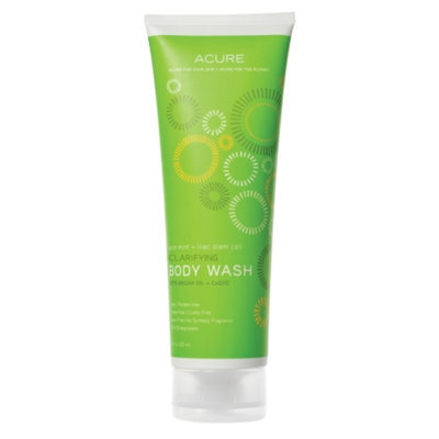 Acure Exfoliating Body Wash Pure Mint + Lilac Stem Cell