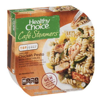 Healthy Choice Cafe Steamers Top Chef Grilled Chicken Pesto with Vegetables