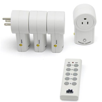 Etekcity 4 Pack Wireless Remote Control Outlet Light Switch (Battery included) ZAP 4L: Newest/Smaller Version with a 100ft Range. Works through doors, floors and walls. Easy home automation. Great for