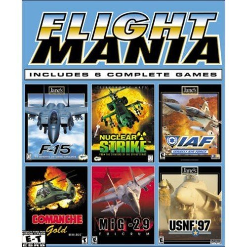 Electronic Arts Flight Mania: F-15, Nuclear Strike, Israeli Air Force (AIF), Comanche Gold, MIG-29, USNF '97 - PC