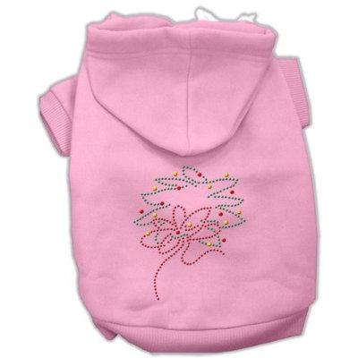 Mirage Pet Products 542515 XLPK Christmas Wreath Hoodie Pink XL 16