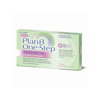 Plan B One Step Emergency Contraceptive Must be 17 or over to purchase without a prescription