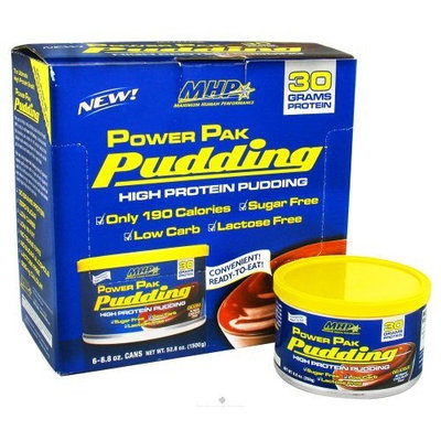 Maximum Human Performance Power Pak Pudding Chocolate (Case of 6) 8.80 Ounces