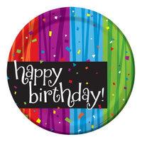 Creative Converting Milestone Celebrations Happy Birthday Dessert Plates