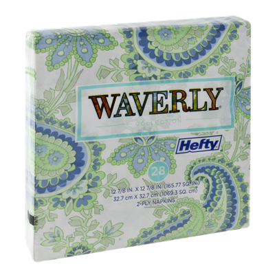 Hefty Waverly Collection 2-Ply Napkins - 28 CT