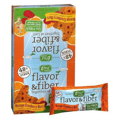 Gnu Foods Flavor & Fiber Bars 16 Pack Orange Cranberry