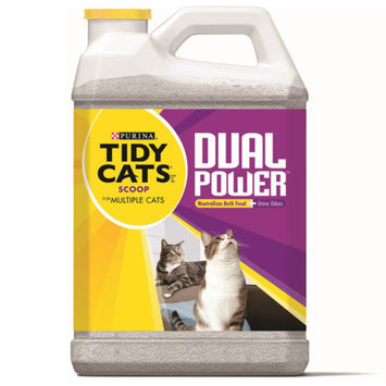Tidy Cats Scoop Dual Power Cat Litter for Multiple Cats, 20 lbs