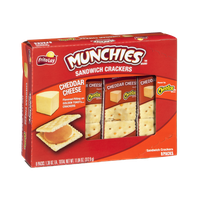 Munchies Sandwich Crackers Cheddar Cheese on Golden Toast Crackers - 8 PK