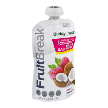 Buddy Fruits FruitBreak Blended Fruit with Coconut Milk & Raspberry