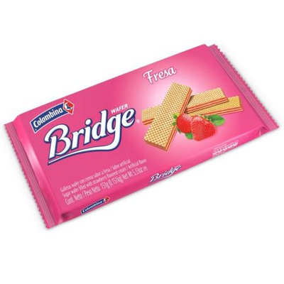 Colombina BRIDGE Sugar Wafer Strawberry