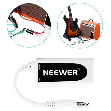 Neewer? Guitar Bass to Smartphone Interface Converter Adapter for Apple iphone, ipod touch