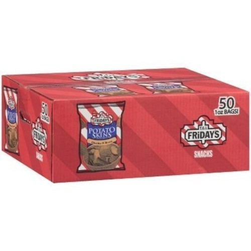 Tgi Friday T.G.I. Friday' Cheddar & Bacon Flavor Potato Skins Chips - 50/1 oz. bags