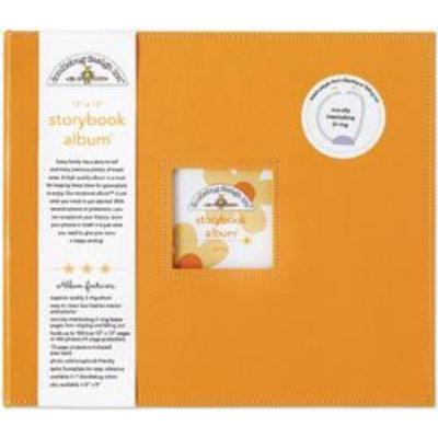 Sierra Accessories DOODLEBUG Tangerine 12 x 12 Storybook Album - SIERRA ACCESSORIES