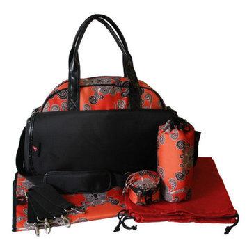 House of Botori Bolu Bowler Twirl Diaper Bag, Terra Cotta, 1 ea