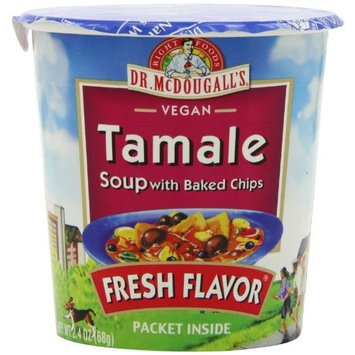 Dr. McDougall's Right Foods Vegan Tamale Soup with Baked Chips, 2.4-Ounce Cups (Pack of 6)