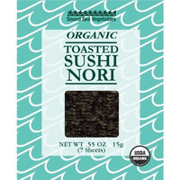 Sound Sea Vegetables Organic Toasted Sushi Nori, 7 Sheets, 0.55-Ounce (Pack of 6)