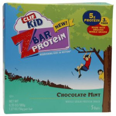 Clif Kid Z Bar Protein, Chocolate Mint, 5 ea