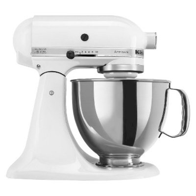 KitchenAid Artisan 5 Qt Stand Mixer- White KSM150