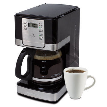 Mr. Coffee 12-Cup Programmable Coffee Maker - Stainless Steel