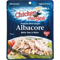 Generic Chicken of the Sea Albacore White Tuna in Water Pouches, 7.1 oz, (Pack of 6)