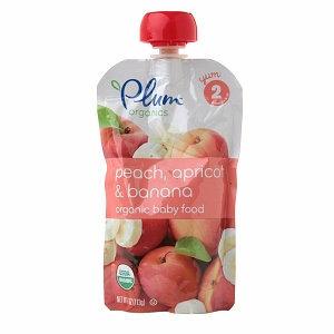 Plum Organics Baby Food Peach/Apricot/Banana
